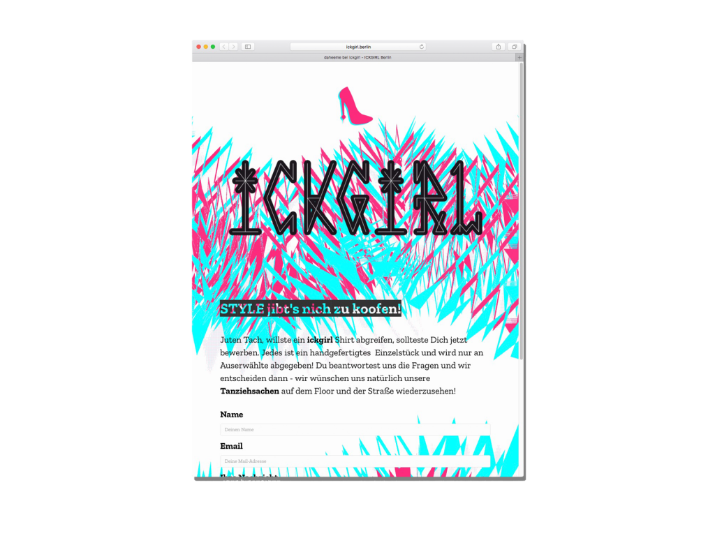 Ickgirl Website August 2018